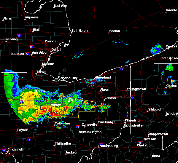 Radar Image for Severe Thunderstorms near Marengo, OH at 7/7/2017 1:15 PM EDT
