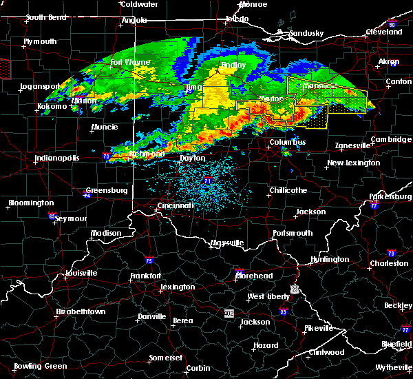 Radar Image for Severe Thunderstorms near Ashley, OH at 7/7/2017 1:24 PM EDT