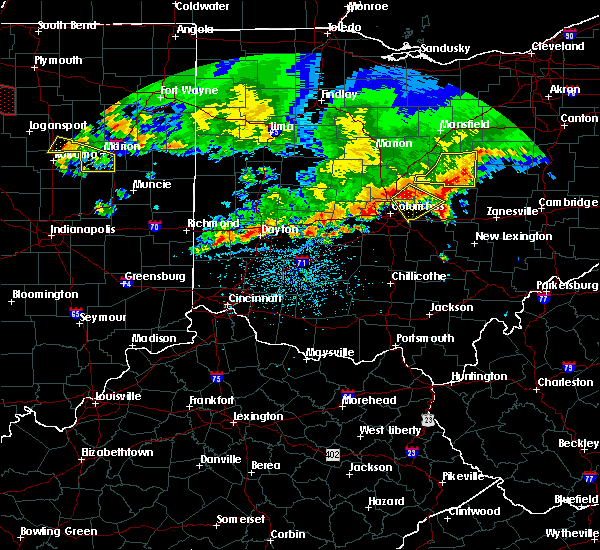 Radar Image for Severe Thunderstorms near Westerville, OH at 7/7/2017 1:52 PM EDT