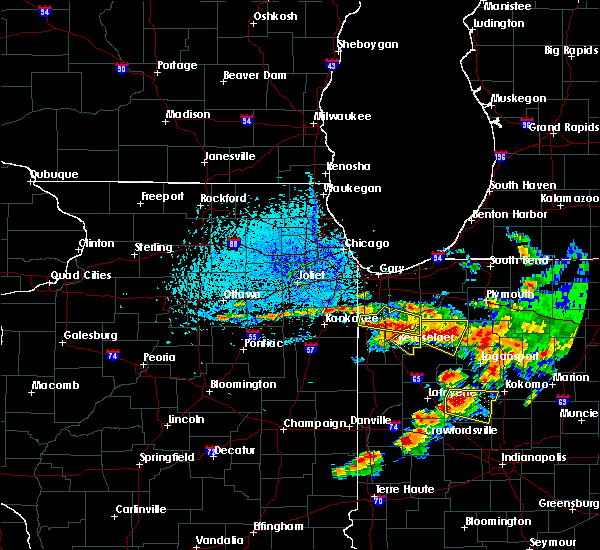 Radar Image for Severe Thunderstorms near Rensselaer, IN at 7/7/2017 1:44 PM CDT