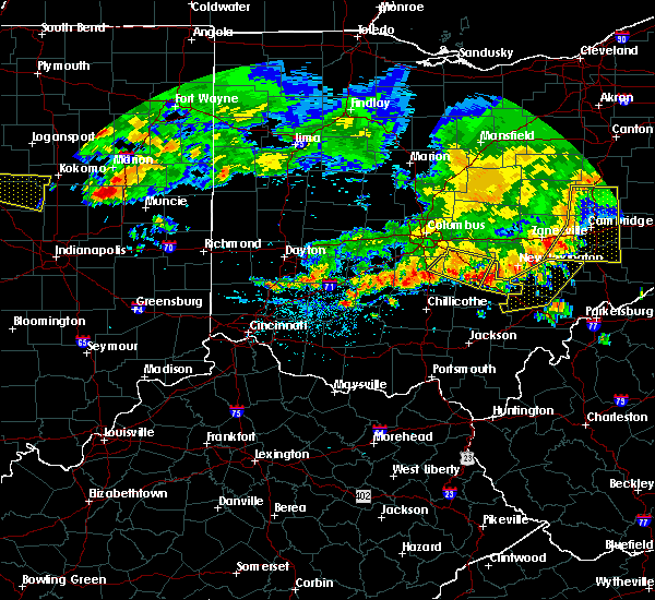 Radar Image for Severe Thunderstorms near Logan, OH at 7/7/2017 2:46 PM EDT
