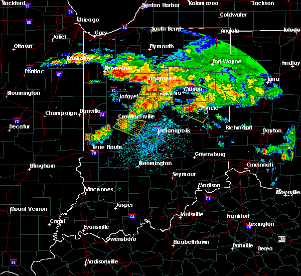 Radar Image for Severe Thunderstorms near Crawfordsville, IN at 7/7/2017 3:11 PM EDT