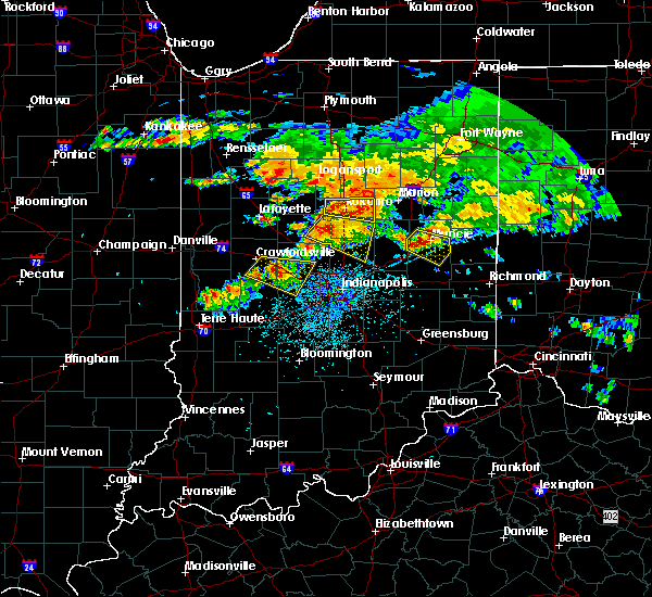 Radar Image for Severe Thunderstorms near Whitestown, IN at 7/7/2017 3:24 PM EDT