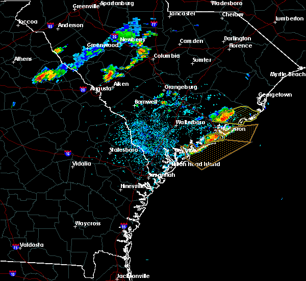 Radar Image for Severe Thunderstorms near Charleston, SC at 7/7/2017 3:36 PM EDT