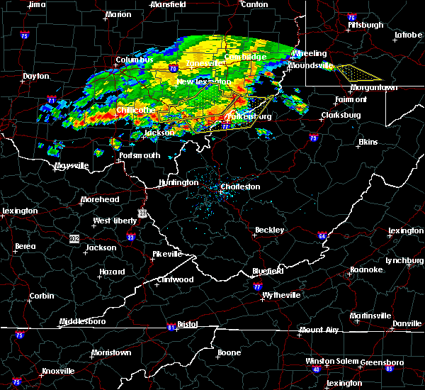 Radar Image for Severe Thunderstorms near Parkersburg, WV at 7/7/2017 3:40 PM EDT