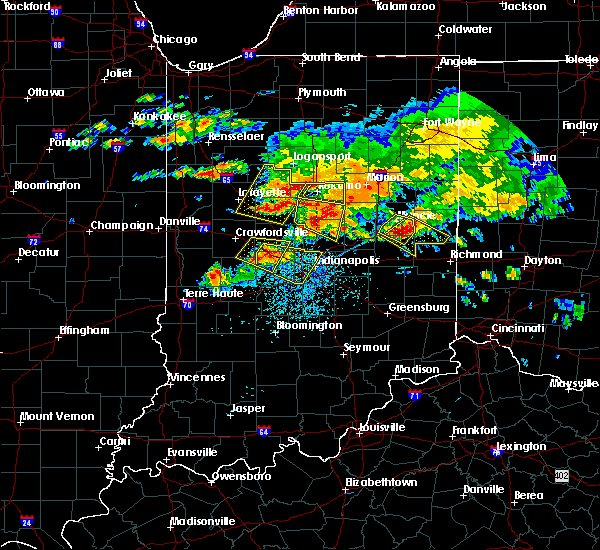 Radar Image for Severe Thunderstorms near Indianapolis, IN at 7/7/2017 3:43 PM EDT