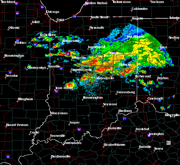 Radar Image for Severe Thunderstorms near Indianapolis, IN at 7/7/2017 4:02 PM EDT