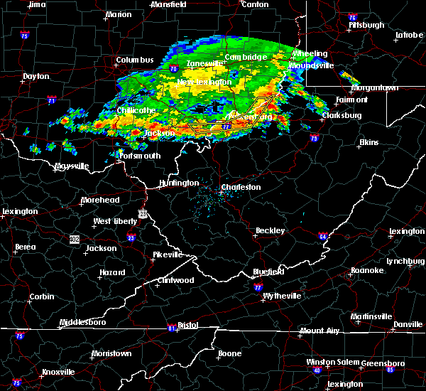 Radar Image for Severe Thunderstorms near Parkersburg, WV at 7/7/2017 4:02 PM EDT