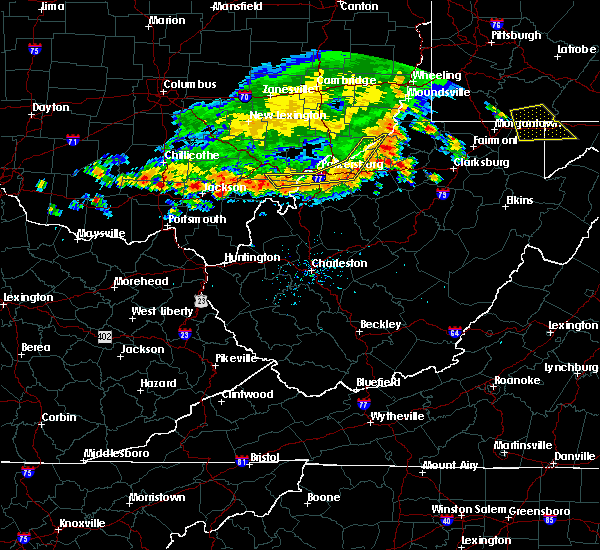 Radar Image for Severe Thunderstorms near Parkersburg, WV at 7/7/2017 4:11 PM EDT