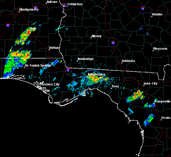 Radar Image for Severe Thunderstorms near Tallahassee, FL at 7/7/2017 4:20 PM EDT