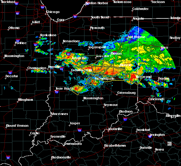 Radar Image for Severe Thunderstorms near Indianapolis, IN at 7/7/2017 4:30 PM EDT