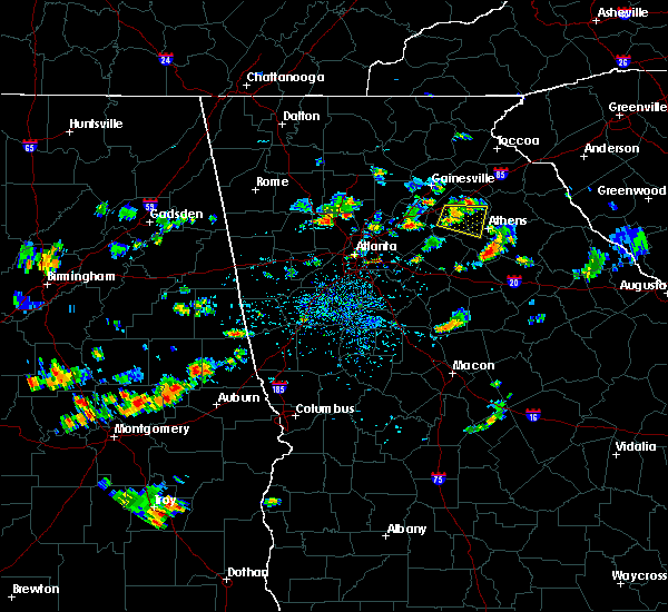Radar Image For Severe Thunderstorms Near Winder GA At 7 2017 4