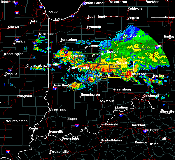 Radar Image for Severe Thunderstorms near Greenfield, IN at 7/7/2017 4:33 PM EDT