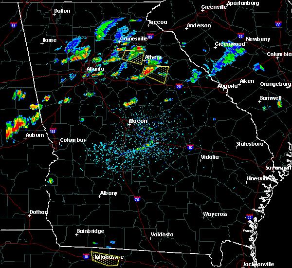 Radar Image for Severe Thunderstorms near Woodville, GA at 7/7/2017 4:42 PM EDT