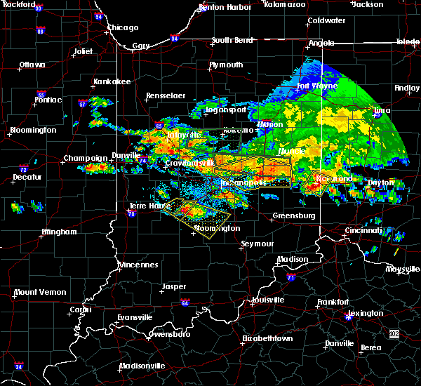 Radar Image for Severe Thunderstorms near Greenfield, IN at 7/7/2017 4:42 PM EDT