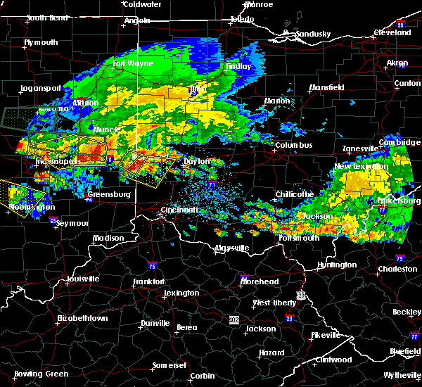 Radar Image for Severe Thunderstorms near Seven Mile, OH at 7/7/2017 4:49 PM EDT