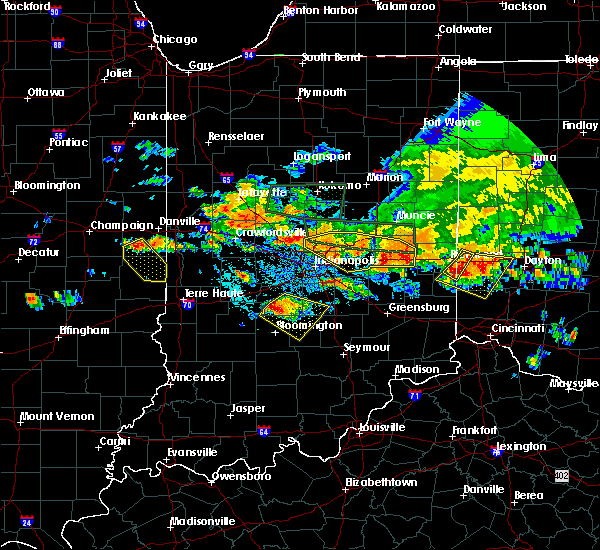 Radar Image for Severe Thunderstorms near Greenfield, IN at 7/7/2017 4:59 PM EDT