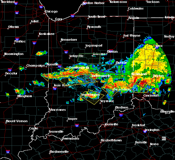 Radar Image for Severe Thunderstorms near Indianapolis, IN at 7/7/2017 5:33 PM EDT