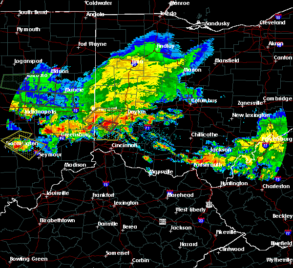 Radar Image for Severe Thunderstorms near Fairfield, OH at 7/7/2017 5:33 PM EDT