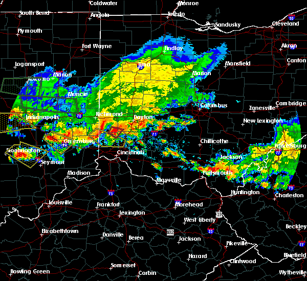Radar Image for Severe Thunderstorms near Germantown, OH at 7/7/2017 5:36 PM EDT