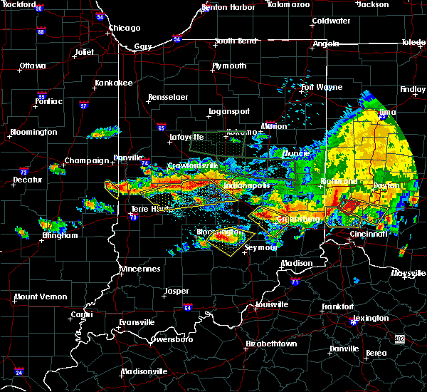 Radar Image for Severe Thunderstorms near Indianapolis, IN at 7/7/2017 5:45 PM EDT