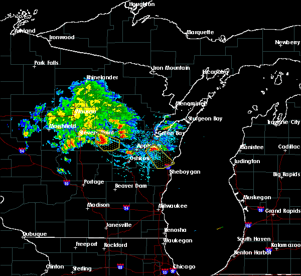 Radar Image for Severe Thunderstorms near King, WI at 7/7/2017 4:52 PM CDT
