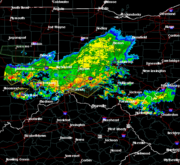 Radar Image for Severe Thunderstorms near Cincinnati, OH at 7/7/2017 6:16 PM EDT