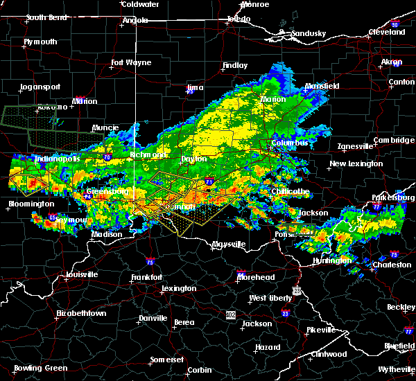Radar Image for Severe Thunderstorms near Cincinnati, OH at 7/7/2017 6:26 PM EDT