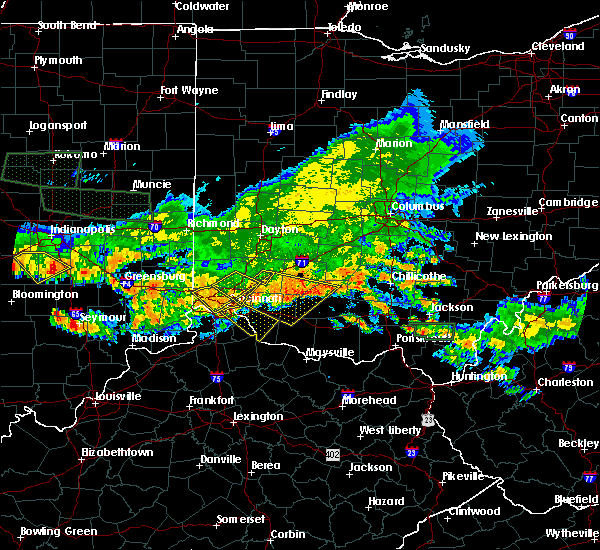 Radar Image for Severe Thunderstorms near Lebanon, OH at 7/7/2017 6:29 PM EDT