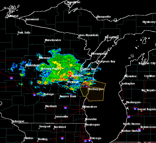 Radar Image for Severe Thunderstorms near Cleveland, WI at 7/7/2017 5:39 PM CDT