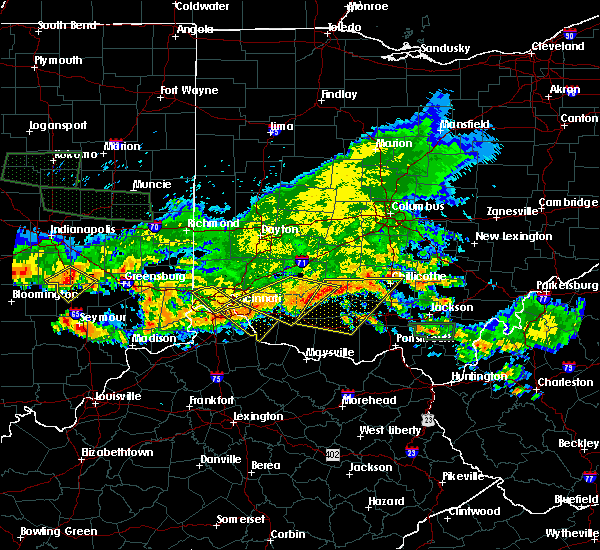 Radar Image for Severe Thunderstorms near Cincinnati, OH at 7/7/2017 6:42 PM EDT