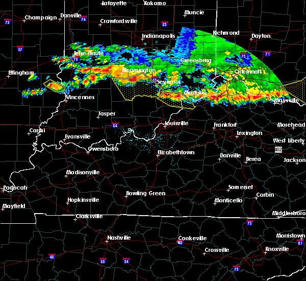 Radar Image for Severe Thunderstorms near Hanover, IN at 7/7/2017 7:32 PM EDT