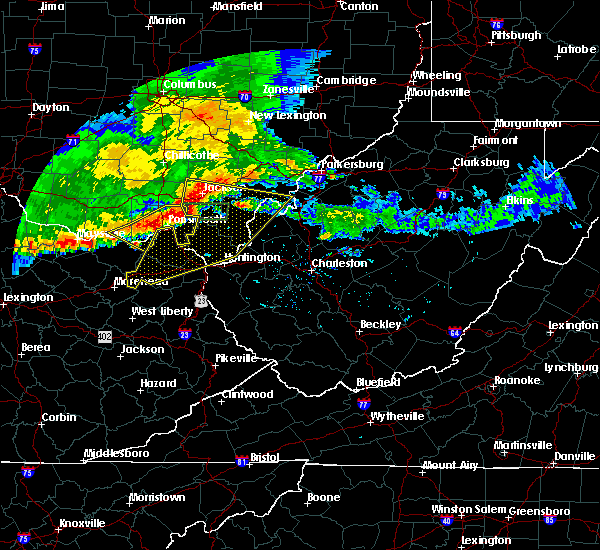 Radar Image for Severe Thunderstorms near Gallipolis, OH at 7/7/2017 7:52 PM EDT