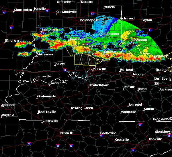 Radar Image for Severe Thunderstorms near Jeffersonville, IN at 7/7/2017 7:54 PM EDT