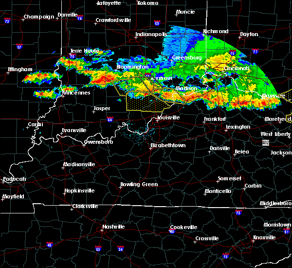 Radar Image for Severe Thunderstorms near Hanover, IN at 7/7/2017 8:01 PM EDT