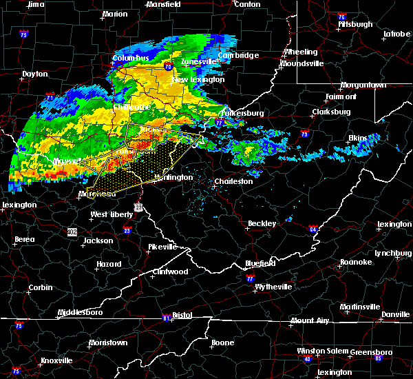 Radar Image for Severe Thunderstorms near West Portsmouth, OH at 7/7/2017 8:10 PM EDT
