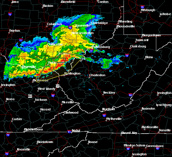 Radar Image for Severe Thunderstorms near Gallipolis, OH at 7/7/2017 8:20 PM EDT
