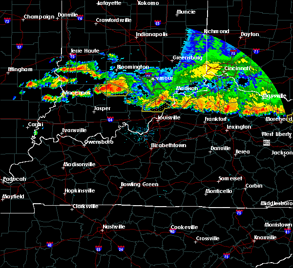 Radar Image for Severe Thunderstorms near Henryville, IN at 7/7/2017 8:26 PM EDT