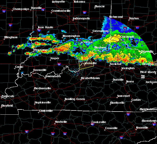 Radar Image for Severe Thunderstorms near Crestwood, KY at 7/7/2017 8:35 PM EDT