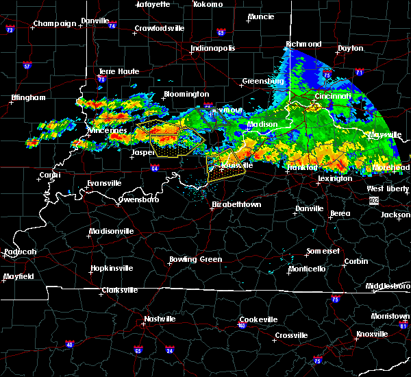 Radar Image for Severe Thunderstorms near Utica, KY at 7/7/2017 8:51 PM EDT