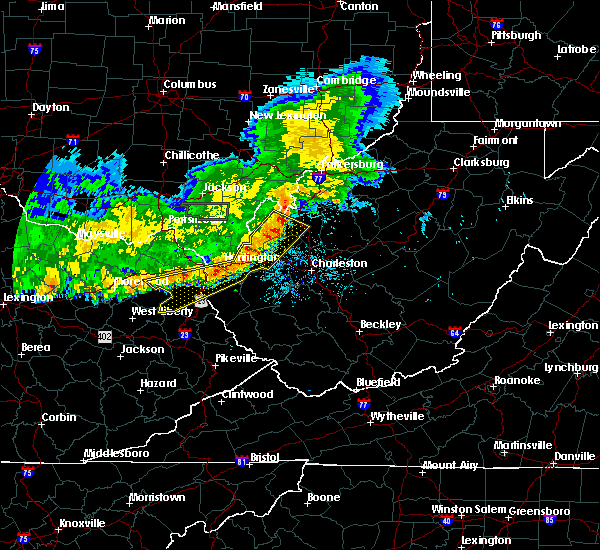 Radar Image for Severe Thunderstorms near Huntington, WV at 7/7/2017 9:07 PM EDT