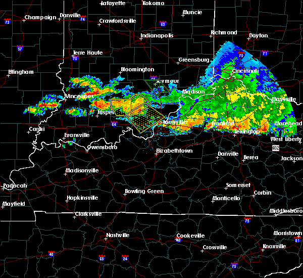 Radar Image for Severe Thunderstorms near Jeffersonville, IN at 7/7/2017 9:09 PM EDT