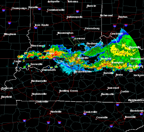 Radar Image for Severe Thunderstorms near Georgetown, IN at 7/7/2017 9:53 PM EDT
