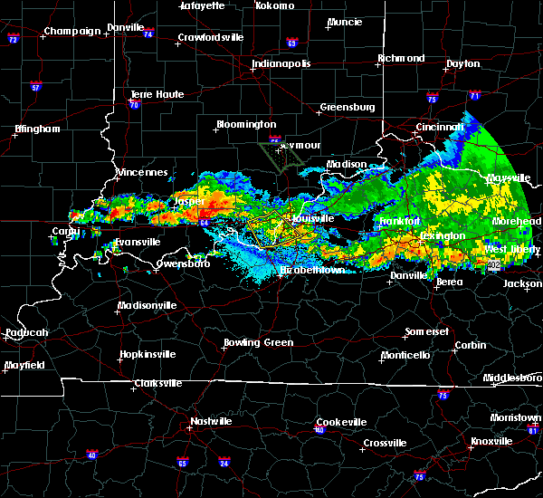 Radar Image for Severe Thunderstorms near Georgetown, IN at 7/7/2017 9:59 PM EDT