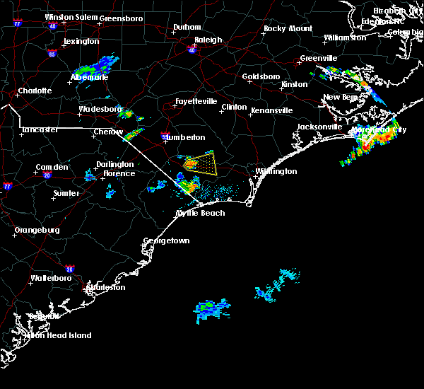Radar Image for Severe Thunderstorms near Brunswick, NC at 7/8/2017 12:16 AM EDT