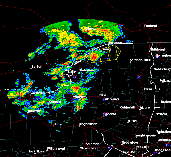 Radar Image for Severe Thunderstorms near Heuvelton, NY at 7/8/2017 4:40 AM EDT