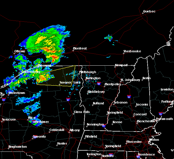 Radar Image for Severe Thunderstorms near Au Sable Forks, NY at 7/8/2017 5:34 AM EDT
