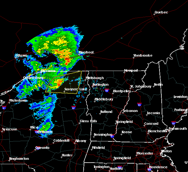 Radar Image for Severe Thunderstorms near Au Sable Forks, NY at 7/8/2017 6:07 AM EDT