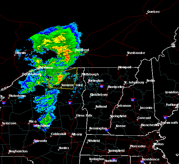 Radar Image for Severe Thunderstorms near Au Sable Forks, NY at 7/8/2017 6:22 AM EDT