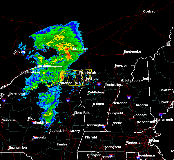 Radar Image for Severe Thunderstorms near Wilmington, NY at 7/8/2017 6:37 AM EDT